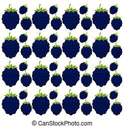 blackberry seamless pattern design