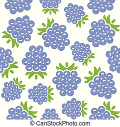 Blackberry seamless pattern for wallpaper or wrapping paper