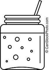 Blackberry smoothie icon, outline style