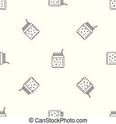 Blackberry smoothie pattern seamless vector