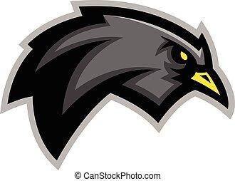 Blackbird illustration - Sports team blackbird mascot...
