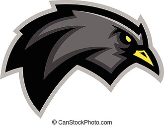 Blackbird illustration - Sports team blackbird mascot...