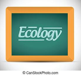 blackboard., écrit, écologie, mot