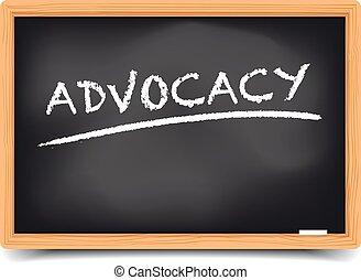 blackboard advocacy - detailed illustration of a blackboard...