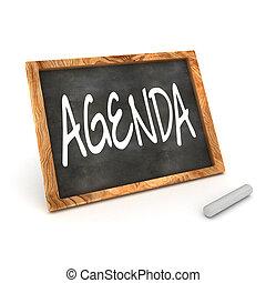 Blackboard Agenda - A Colourful 3d Rendered Concept...