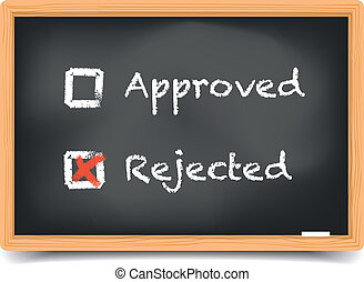 Blackboard Approved Rejected