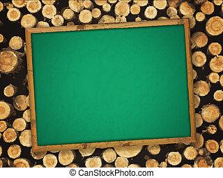 blackboard at lumber background