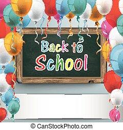 Blackboard Balloons Back to School