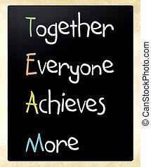 blackboard, begrepp, teamwork
