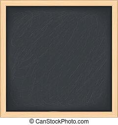 Blackboard - Black blackboard on white background, vector...
