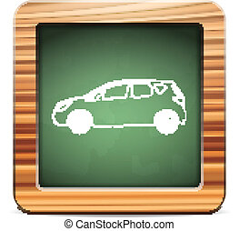blackboard car