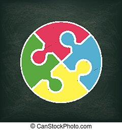 Blackboard Circle Puzzle