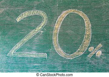 Blackboard display 20% off discount sign - Blackboard...