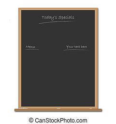 Blackboard - Image of blackboard with editable text.
