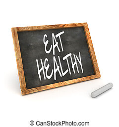 Blackboard Eat Healthy