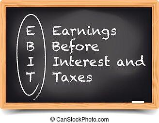 Blackboard EBIT Term - detailed illustration of a blackboard...