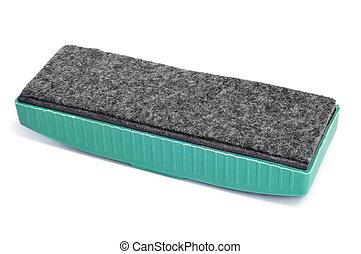 blackboard eraser - closeup of a blackboard eraser on a...