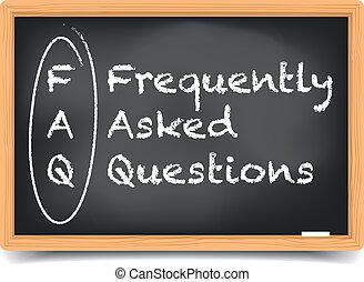 Blackboard FAQ - detailed illustration of a FAQ term...