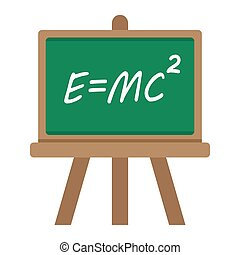 Blackboard flat icon, chalkboard and school