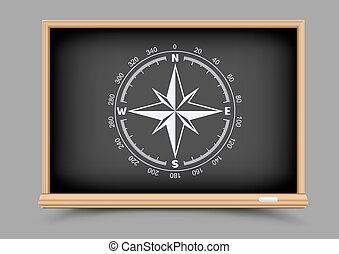 blackboard geography lesson