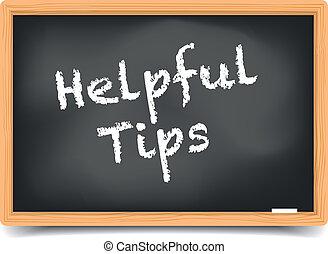 Blackboard Helpful Tips - detailed illustration of a...