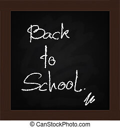 blackboard  in classroom....Back to school concept