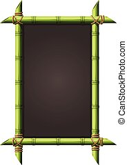 Blackboard in square bamboo frame