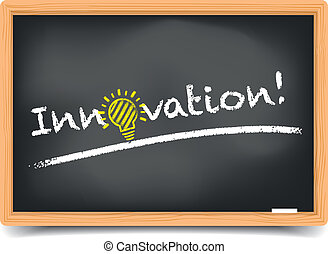 Blackboard Innovation - detailed illustration of a ...