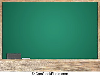 Blackboard is blank for writing your message.