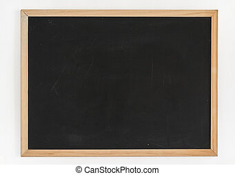 Blackboard isolated on white background.