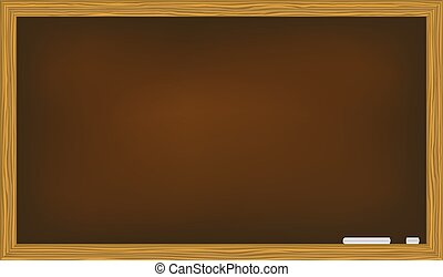 blackboard isolated on white background vector illustration
