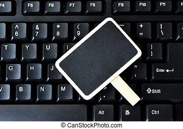 Blackboard on the keyboard