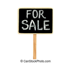 Blackboard on white background, for sale concept