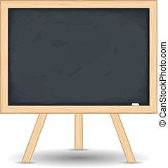 Blackboard on white background, vector eps10 illustration