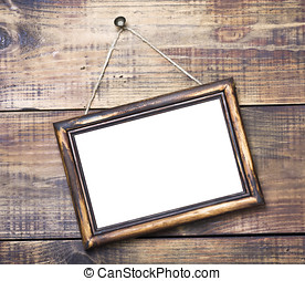 Blackboard on wooden background with space for text