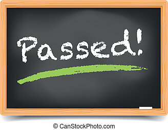 detailed illustration of a blackboard with underlined passed term, eps10 vector, gradient mesh included
