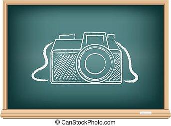 blackboard photo camera