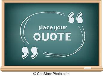 blackboard quote template