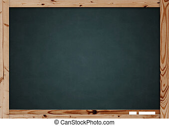 Blackboard - Retro blackboard with wooden frame - over white