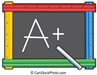 Blackboard Ruler Frame, A Plus