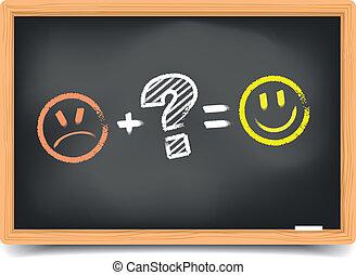 Blackboard Satisfaction - detailed illustration of a...