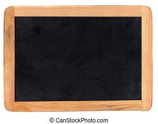 Blackboard - Small school wooden blank blackboard isolated...