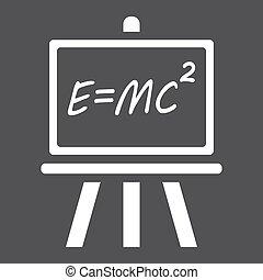 Blackboard solid icon, chalkboard and school