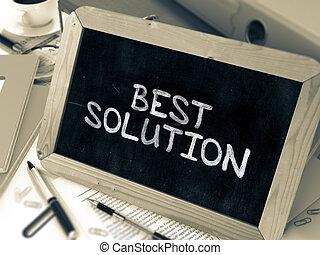 blackboard., solução, giz, branca, melhor, manuscrito