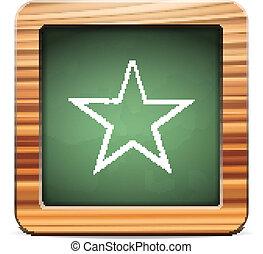 blackboard star