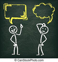 Blackboard Stickman 2 Speech Bubbles