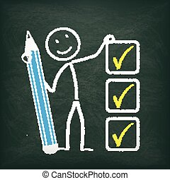 Blackboard Stickman Checklist