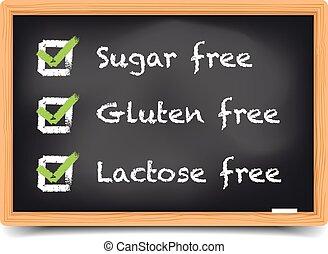 Blackboard Sugar Gluten Lactose