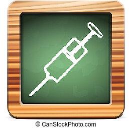 blackboard syringe