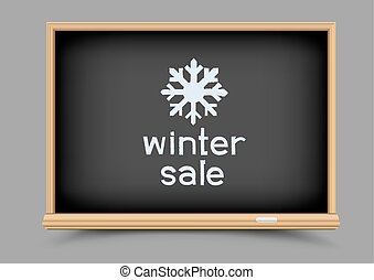 blackboard winter sale - Blackboard and winter sale picture....